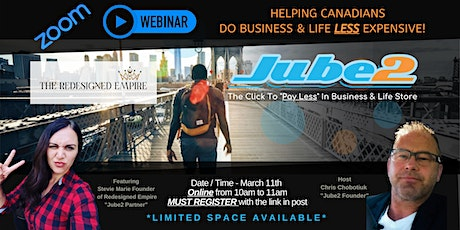 Ep 3 with Stevie Marie - Jube2's & partners that save your Biz & Life money tickets