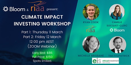 Climate Impact Investing Workshop tickets