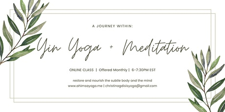 A Journey Within: Yin Yoga and Meditation tickets