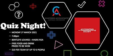 Accounting Society Quiz Night tickets