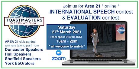Toastmasters Area 21 contests - International Speech & Evaluation tickets