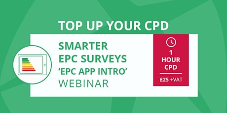 CPD - Smarter Surveys - The  Smart EPC app tickets