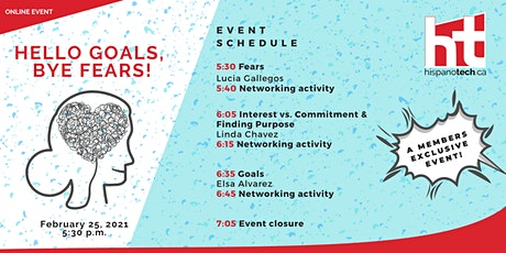 Hello Goals, Bye Fears Networking Event tickets