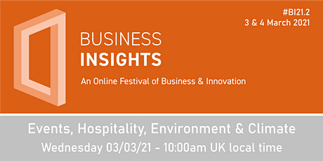 Events, Hospitality, Environment & Climate tickets