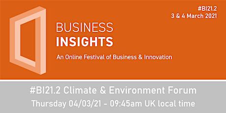 #BI21.2 Climate & Environment Forum tickets