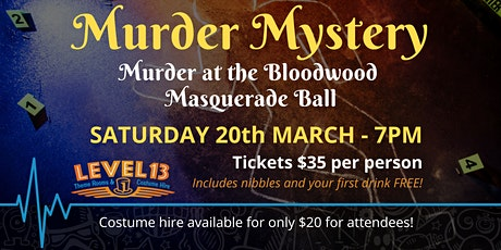 Murder at the Bloodwood Masquerade Ball - Murder Mystery tickets