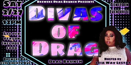 Brewers Drag Brunch: Divas of Drag tickets