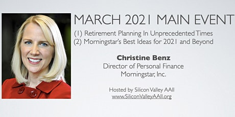 SV-AAII March Main Event: Christine Benz from Morningstar on 2 topics tickets