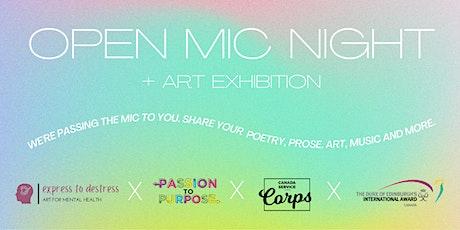 Open Mic Night + Art Exhibition tickets