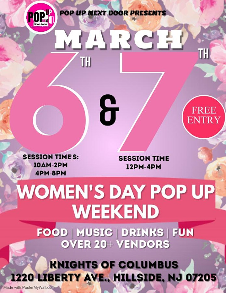 WOMEN'S DAY POP UP WEEKEND image