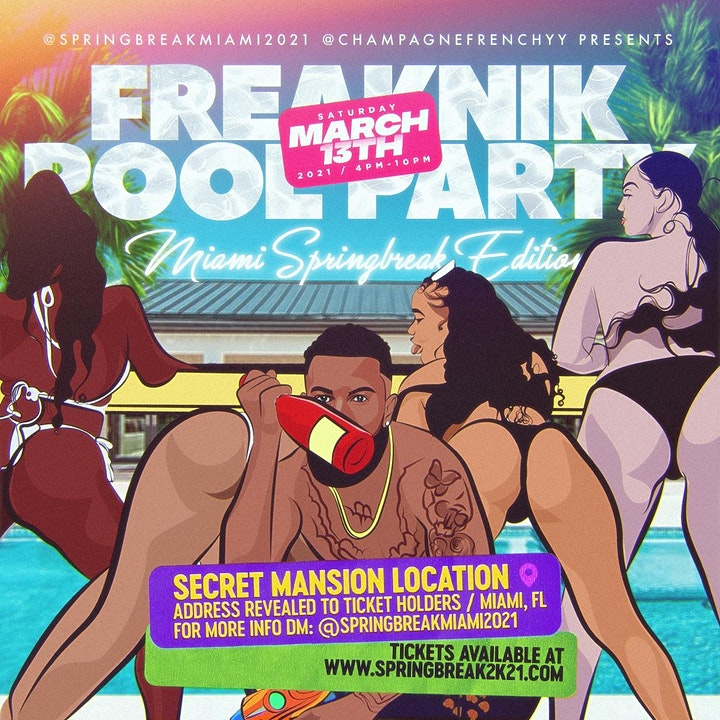 FREAKNIK POOL PARTY - Miami Spring Break Mansion Edition image