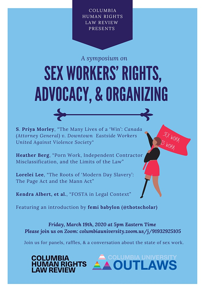 Columbia HRLR Symposium on Sex Workers' Rights, Advocacy, & Organizing image