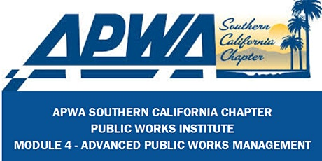 APWA - Public Works Institute - Module 4-Virtual Session tickets