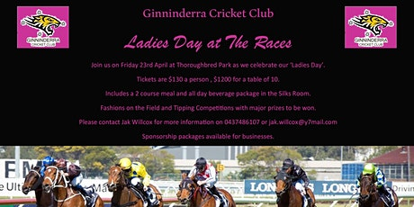 Ginninderra Cricket Club Ladies Day @ The Races tickets