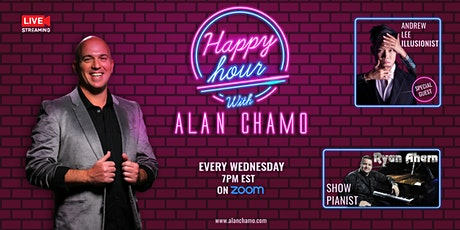 Virtual Happy Hour with Alan Chamo  | featuring Illusionist Andrew Lee tickets