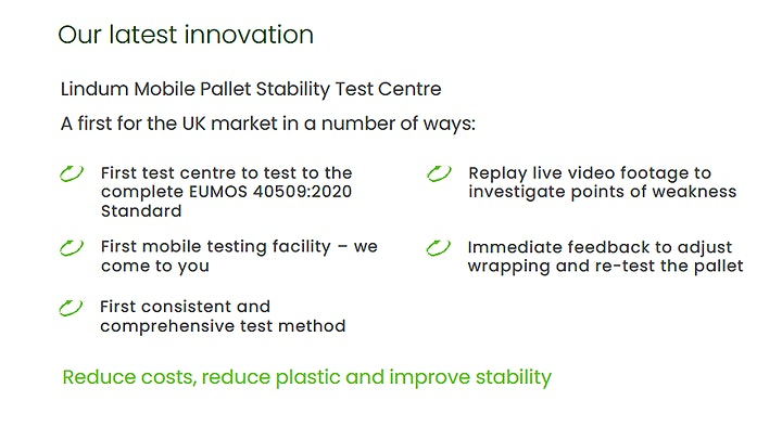Pallet Load Stability Mobile Test Centre Launch image