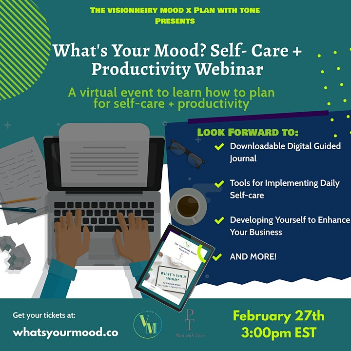 TVM X Plan with Tone: What's Your Mood? Self Care + Productivity Webinar image