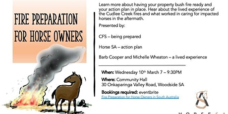 Fire Preparation for Horse Owners in South Australia tickets