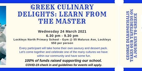 Greek Culinary Delights with the Master: Greek Cooking Masterclass tickets