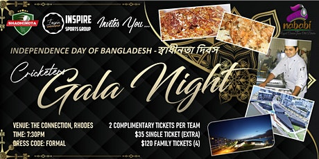Cricketers Gala Night 2021 tickets