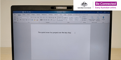 Be Connected - Creating documents with Microsoft Word @ Karrinyup Library tickets