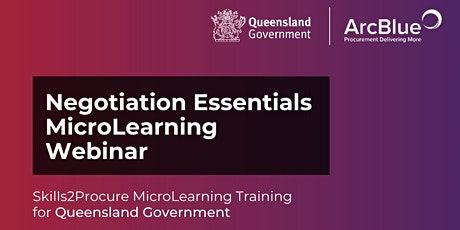 Negotiation Essentials Skills2Procure Training for QLD Government tickets