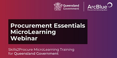 Introduction to Procurement Skills2Procure Training for Qld Government tickets