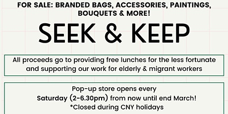Seek & Keep, a pop-up market @ 37 Veerasamy Road tickets