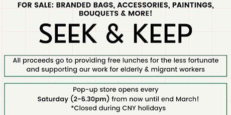 Seek & Keep, a pop-up market @ 37 Veerasamy Road tickets