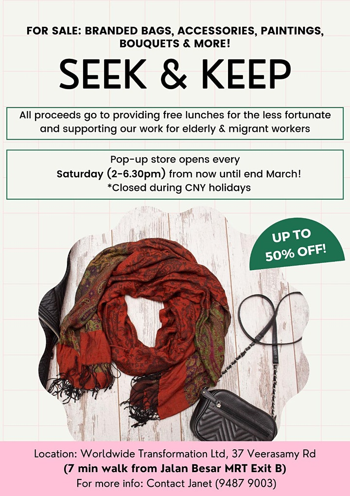 Seek & Keep, a pop-up market @ 37 Veerasamy Road image