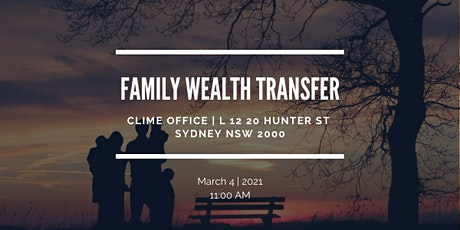 Family Wealth Transfer  - Syd tickets