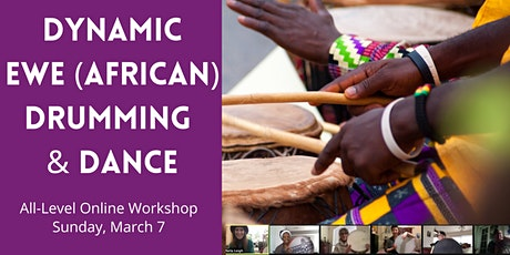 Dynamic African Rhythms & Dance Beginner's Workshop (online) tickets
