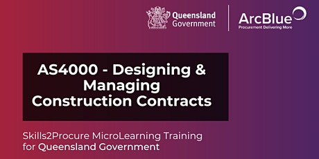 AS4000 - Designing & Managing Construction Contracts tickets