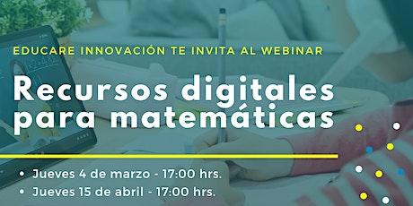 Recursos digitales para matemáticas boletos