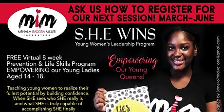 SHE WINS - Young Women Leadership Program - Starting March 11, 2021 tickets