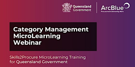 Category Management Skills2Procure Training for QLD Government tickets