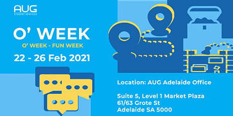 [AUG Adelaide] Orientation Week tickets