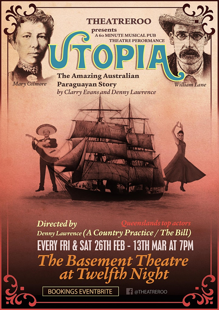 UTOPIA -  A 60 Minute Musical Pub Theatre Show @ The Basement Theatre image
