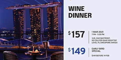 Wine dinner @ VUE tickets