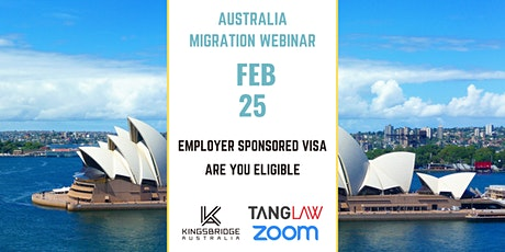 Australia Migration Webinar: Employer Sponsored Visa - Are You Eligible tickets