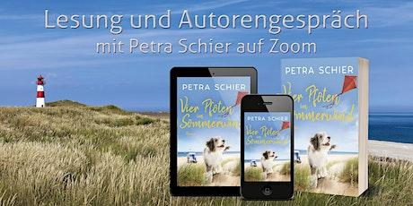 """Petra Schier liest auf Zoom aus """"Vier Pfoten im Sommerwind"""" Tickets"""