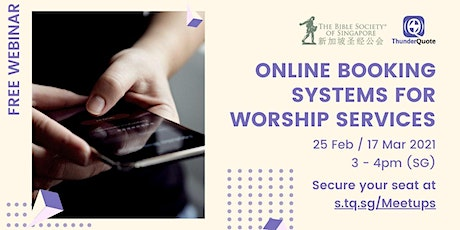 [Free Webinar] Online Booking Systems for Worship Services tickets