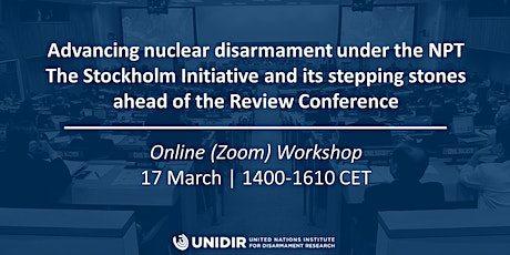 Advancing nuclear disarmament under the NPT tickets