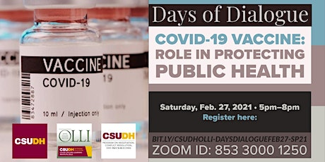 Days of Dialogue | COVID-19 Vaccines: The Role in Protecting Public Health tickets