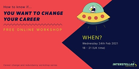 Free online workshop: How to know if you want to change your career tickets