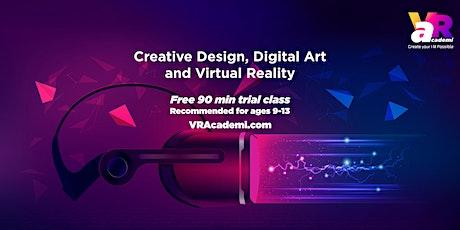Creative Design, Digital Art & Virtual Reality (for ages 9-13) Free Demo biglietti