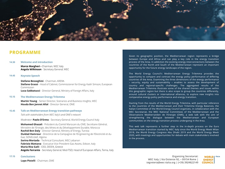 Energy transition in the Mediterranean Area: new geographies, new alliances image