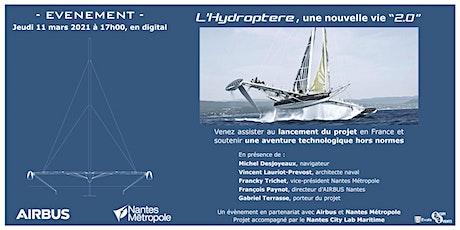 L'Hydroptere 2.0 accélérateur d'innovation billets