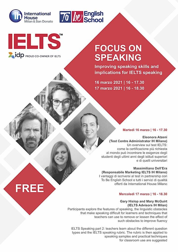"""Immagine IELTS Free Webinar """"Focus on Speaking"""""""
