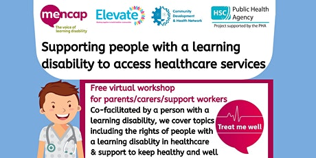 Supporting people with a learning disability in healthcare - parents/carers tickets